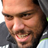 John Afoa holds the ball out of reach of Victor Vito as they attend the All Blacks captains run in Christchurch. Photo / NZPA