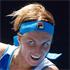 Svetlana Kuznetsova of Russia in action against New Zealand's Sacha Jones. Photo / Dean Purcell