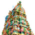 The colourful Tookay Temple in southern Mauritius is sacred to Tamils. Photo / Pamela Wade