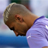 Algeria's goalkeeper Fawzi Chaouchi hangs his styleless head in shame. Photo / AP.
