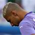 Algeria's goalkeeper Fawzi Chaouchi hangs his styleless head in shame. Photo / AP.