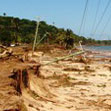 Damage after the tsunami in Samoa. Photo / Cherelle Jackson