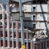 Brick by brick demolition work proceeds on the Manchester Courts building, one of the earthquake damaged buildings on the corner of Manchester and Hereford Streets in Christchurch. Photo / NZPA