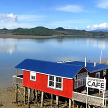 The Boatshed Cafe, Rawene. Photo / Supplied