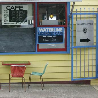 Waterline Cafe, Kohukohu. Photo / Supplied