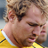 Rocky Elsom, captain, at the Australian Rugby team captains run. Photo / NZPA