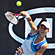 Marina Erakovic of New Zealand serves in her doubles match with partner Sofia Arvidsson of Sweden against Simona Halep of Romania and Tamira Paszek of Austria. Photo / AP