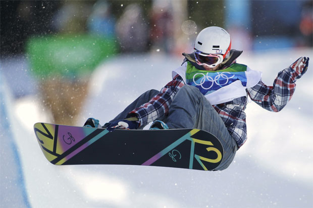 Gretchen Bleiler of the USA competes in the women's snowboard halfpipe at the Vancouver 2010 Olympics. Photo / AP