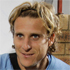 Uruguay's Diego Forlan does his best Goldilocks impression. Photo / AP.