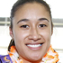 Silver Fern Maria Tutaia with her medal. Photo / NZPA
