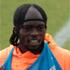 Ivory Coast's Gervinho sports an unfortunate headband and braids combo. Photo / AP.