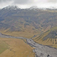 Floodwaters rising after the volcano under the Eyjafjallajokull glacier in Iceland erupted for the second time in less than a month. Photo / AP