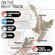 On the right track: The route Jim Eagles took across New Zealand. Graphic / NZ Herald