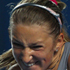 Victoria Azarenka of Belaru plays a backhand in her third round match against Tathiana Garbin of Italy. Photo / Getty Images