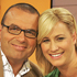 Paul Henry and Pippa Wetzell in the TVNZ Breakfast studio. Photo / Herald on Sunday