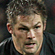 Richie McCaw of New Zealand looks toward Jonathan Thomas of Wales. Photo / Getty Images