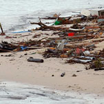 Tsunami devastation on the South East coast villages of Samoa. Photo / Brett Phibbs