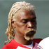 Cameroon's defender turned hairstyle offender, Rigobert  Song is a little too fond of the bleach. Photo / AP.