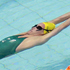 Australia and New Zealand compete in the 50m women's backstroke heat during the Commonwealth Games. Photo / AP