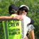 Jaron gives Lisa a huge at the day 3 finish line