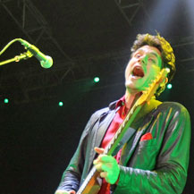 American singer John Mayer entertains fans during his concert at Vector Arena. Photo / Dean Purcell