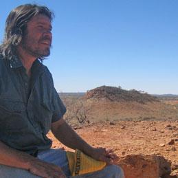 Craig Le Rossignol at the Oak Valley Aboriginal Community. Photo / Greg Dixon