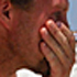 Kevin Reed, 36, of Pensacola weeps as he looks over the oil-defiled shores of Pensacola Beach, Florida. Photo / AP