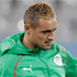 The bleached and shaved head of Algeria's Karim Ziani. Photo / AP.