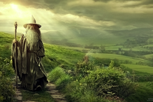 The new Hobbit poster shows Gandalf walking through Middle Earth. Or is it Newcastle? Photo / Supplied