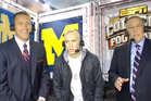Eminem appears confused during a live TV interview on ESPN. Photo / YouTube
