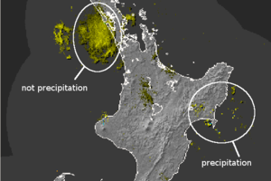 The MetService radar on February 21. Image / MetService