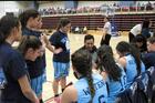 Tane Bennett coaching the Tauranga Girls' College Senior A basketball team