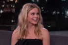 Kiwi actress Rose McIver talks to Jimmy Kimmel on his late night talk show.