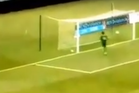 Mickael Roche watches in horror at his own goal. Photo / Youtube