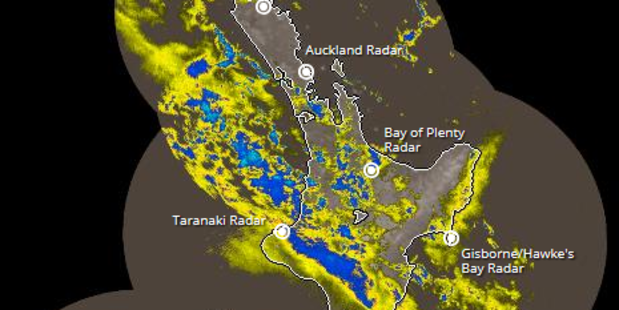 The rain radar this morning shows the North Island getting drenched. Photo / MetService