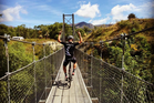 Kiwi cyclist Piet Bulling gets on the bike during the summer holidays. Photo / Instagram