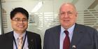 Trade commissioner Hernando Banal II. (L) and Manila-based New Zealand ambassador David Strachan.