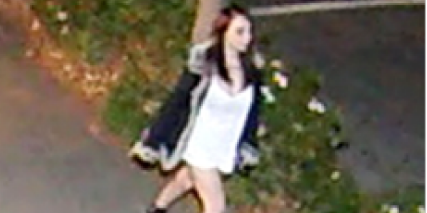 Security camera footage of Renee Duckmanton walking on Peterborough St in Christchurch at about 9pm on May 14.