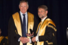 Chris Dawe (left) receives the 2016 RACS ESR Hughes Medal.
