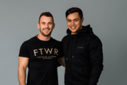 Fitwear directors Simon Phillips and Adam Clark, who helped pay the rent arrears for Hamilton family Rob and Roselyn and their four children. Photo / Supplied