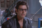 Jeff Goldblum as Dr Ian Malcolm in Jurassic Park.