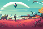 An image from the delayed space exploration game, No Man's Sky.