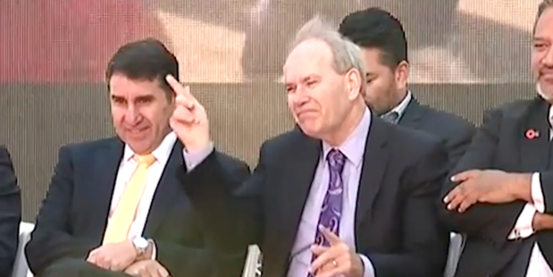 Mayor Len Brown was caught on camera in this disco fever fail.