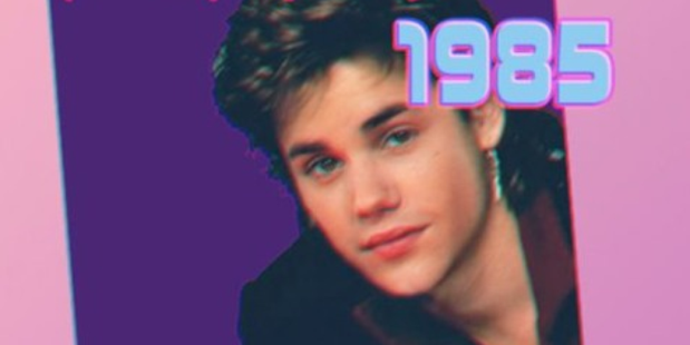 Justin Bieber has been turned into a 80's popstar by Tronicbox.