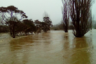 Flooding pics of Hikuai. Photo by Jared Stein on Thames-Coromandel District Council's Facebook page