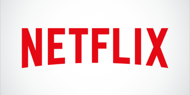 The old Netflix logo featured red lettering on a white background.