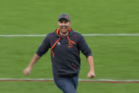 Paul Waterhouse celebrates after landing a kick to win his family $100,000. Photo / YouTube
