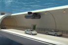 The proposed floating tunnel would be a world's first. Photo / Youtube