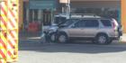 A stolen car crashed at the Z petrol station in Clendon. Photo / Jordan Bond