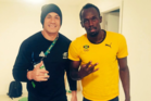 Sonny Bill Williams nabbed a rare selfie with Olympic 100m champion Usain Bolt. Photo / Twitter